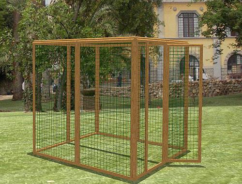 recinto per gatti autoportante 180x180