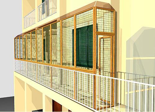 Recinto per gatti balconi alto con ringhiera for Idee per coprire ringhiera balcone