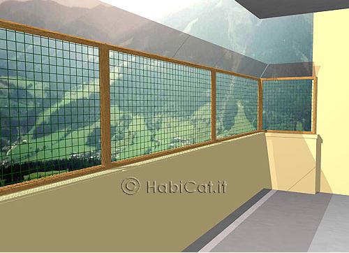 Protezione terrazzi per gatti